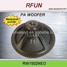 12 inch 15 inch professional Neodymium woofer