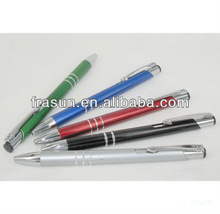 Cheap Silk Screen Printing Corlored Metal Ball Pen, Promotional Aluminum Pen
