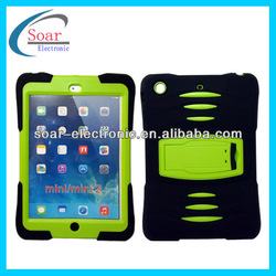 With Kickstand and Shock Wave Design Shockproof Case for iPad Mini 2