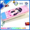 girls pencil case / plastic pencil case / plain pencil case
