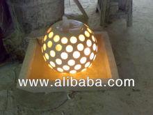 Fiberglass lighting fountain