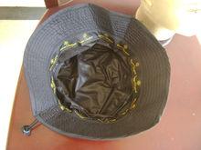 100% polyester taslon Waterproof foldable Rain Hat