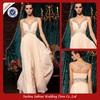 SE46 Elegant Chiffon Evening Desses Long Sleeveless Applique Evening Dress