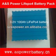 High capacity prismatic 3.2v lifepo4 battery 100ah for solar house