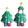 150cmH/5ft inflatable Christmas decoration Santa in christmas tree