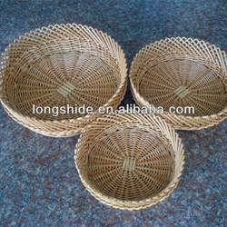 practical 100% handmade weave ornamental environmentally friendly wicker fruit basket