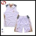 100% poliéster baratos conjunto uniforme de basquete