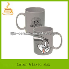 11 oz looney tune color glazed fancy ceramic coffee cups and mugs,gift mug for kids