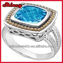 Fine jewelry 2014 fashion silver aquamarine ring