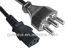 3 pin Swiss SEV extension cord with plug,power plug,