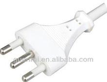 3 pin Swiss SEV plug ,3 pin Swiss SEV extension cord with plug,power plug,