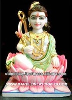 Krishna Statue with Lotas