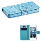 Diamond PU leather for iphone 5 case