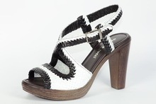 Pump Sandals made in Italy Whte and Black