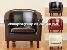 fashionable modern pu fabric hotel lounge sofa chair