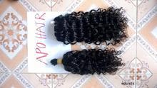 No dye , No Bleach Dark Curly hair 100% human hair of viet nam