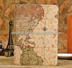 for ipad air new map leather cover