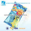 Customed inflable queso de plástico de envasado de alimentos diseño