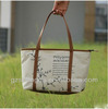 shangda latest design canvas leather bag handbag