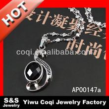 Deer antler pendant,chicago bulls good,glowing black crystal pendant necklace