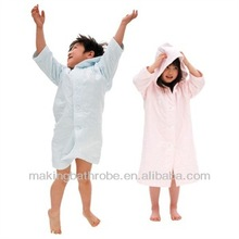 High quality short sleeves bamboo bathrobe for kids