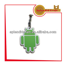 soft PVC Android robot keychain