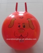 pvc jumping ball/hopper ball/sheep-horn handle ball