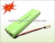AA size nimh 4.8v battery 2200mAh nimh battery pack