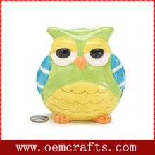 Brand new Ceramic Hoot Owl Piggy Bank for home decor