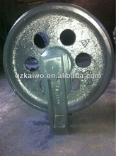 PC excavator undercarriage parts front idler pc100,