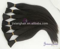 5A quality remy vrigin brazilian hair bulk,100% natural balck unprocessed virgin hair bulk,anhui jixiang hair bulk sale on aliba