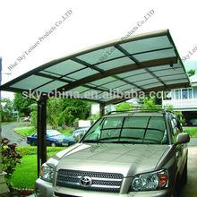 Aluminium and polycarbonate solar carport