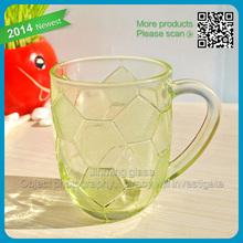Glass Decorative Beer Mug Cup For World Cup Football Glass Beer Cup Colored Decorative Football Mug