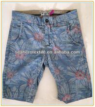 man's flower printed shorts
