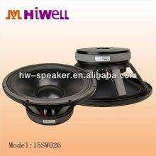 "hiwell audio subwoofer 15"",600W,ferrite magnet"