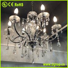 CE/UL approved 8 light crystal chandelier lighting