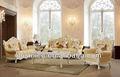 Luxus ledercouchgarnitur klassiker europäischen stil wohnzimmer möbel aus massivholz sofa
