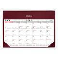 Pvc de escritorio de cuero planificador esteras/alfombrillas con doble color calendario de contenido