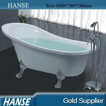 HS-B518 bathtub with claw feet,high quality free standing bathtub,small clawfoot tub