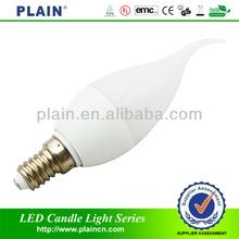 240lm candle led light 3w/led wax candle light