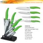 KCK0015 4pcs green handle Ceramic Knife Set