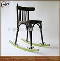 antigo de madeira cadeira de metal cadeira de balanço