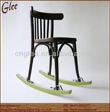 Antique Wooden Chair Metal Rocking Chair