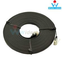 4 Pair 32AWG Black Color Cat 5e Ethernet Cables/Super Flat Cat5e Cable