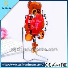 Mini Cartoon Alarm Clocks Kids Cute bear Plastics Desk Fun Gifts Table Clock