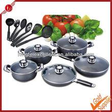 16pcs aluminum cooking pot induction cookware die cast aluminum cookware non-stick cookware sets