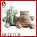 El único punto de tela de peluche de elefante de peluche& hipopótamo juguete suave de bebé de juguete