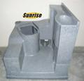 china lldpe8446 móvil del panel de plástico al aire libre de wc portátiles con frescos y residuos de los tanques