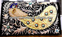 Ladies Fashion Purses of Zari and Beads Hand Embroidered on Velvet, Silk, Satin and other fabrics