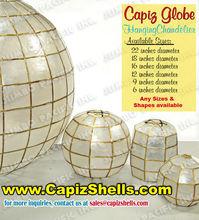 Capiz Shell Chandelier Lantern